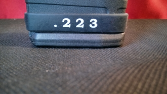 .223 in black can be used to denote standard xm193 ball ammo